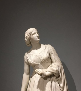 woman statue, grey and white