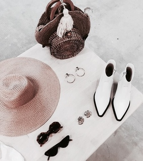 lifestyle, shoes and hat