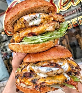 burgers, food and Chicken