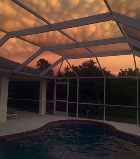sunset, house and money
