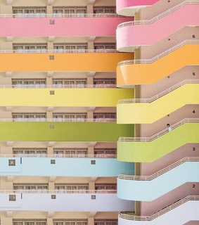 stairway, colorful and architecture
