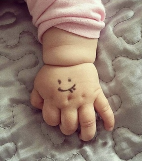 cute, hand and baby