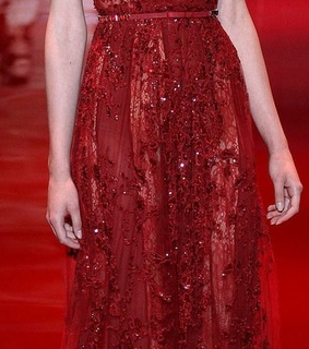 dress, Couture and red