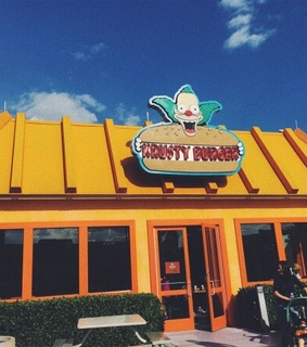 the simpsons, florida and universal studios