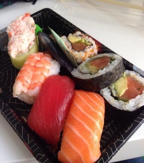sushi, dinner and food