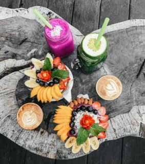 coffee, fruit and smoothies
