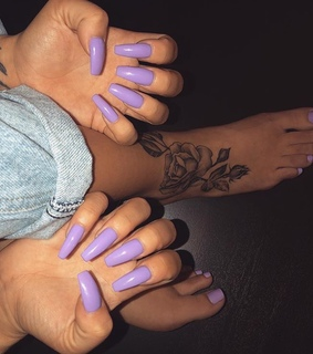 nails goals, beauty and purple nails