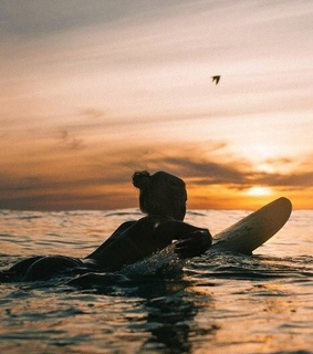 sport, sunset and sea