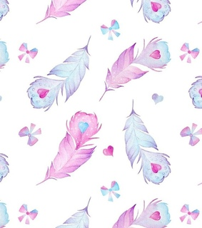 feather, pastel and pattern