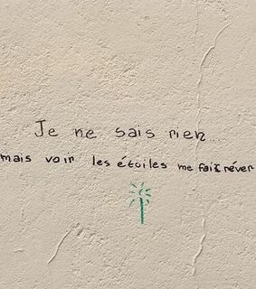 wall, tag and french