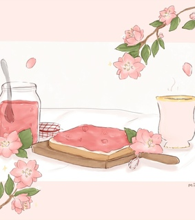 art, cute and pink
