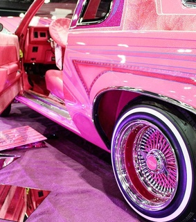 pink, lowriders and cars