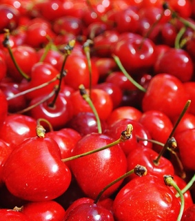 red, cherries and food