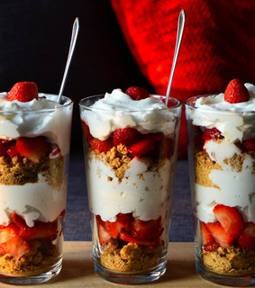 food, parfait and photography