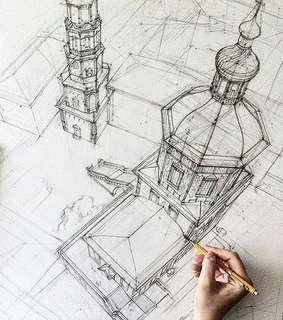 architecture, illustration and drawing