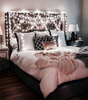 bed, decoration and room