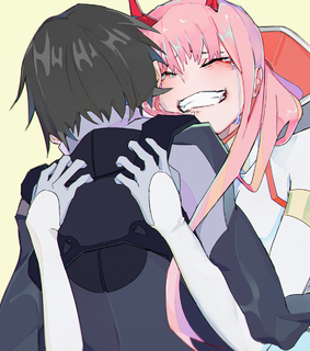 darling in the franxx, anime boy and zero two
