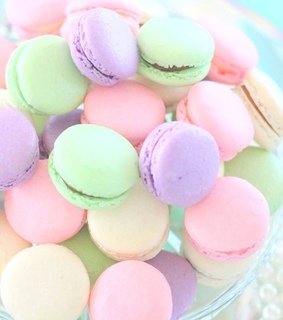 macaroons, purple and junk
