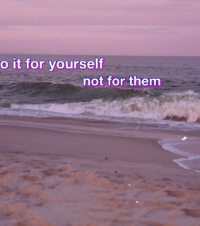 pink, quote and ocean