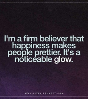 happiness, glowing and quote