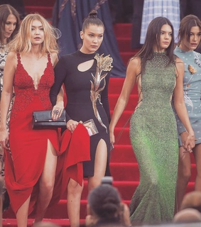 models, glam and red carpet