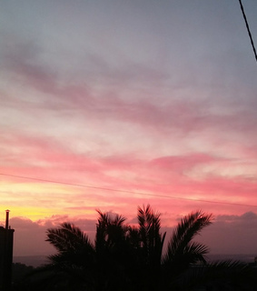 pink sky, colorfull sky and sky