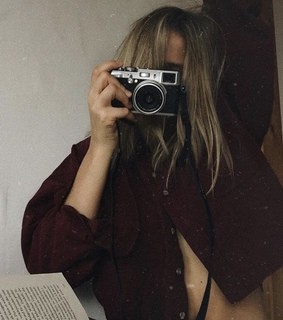 camera, girl and aesthetic