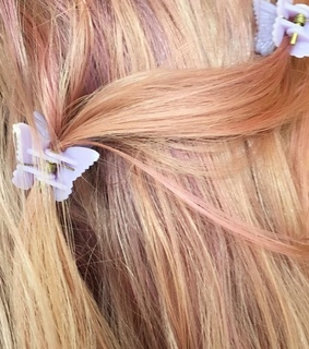 dye, butterfly and clips