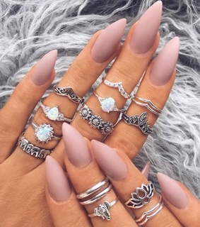 girly, rings and beauty
