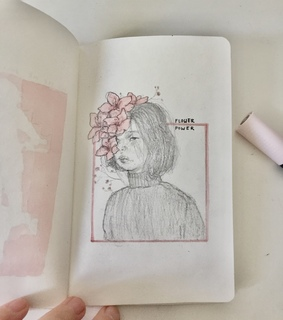 pink, asian and drawing