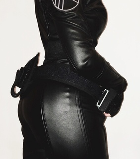 girls, leather and black