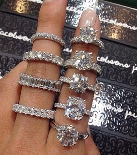 jewelry, crytals and ring