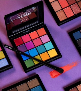 eyeshadow, make up and bright colours