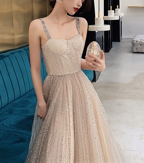 girl, tulle and long dress
