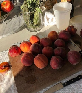 fruit, peach and food