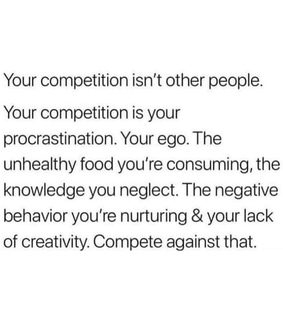 competition, you and ego