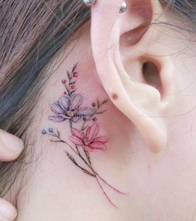 ear, color and pink