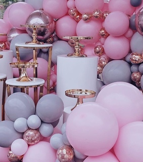 balloons, aesthetic and baby shower