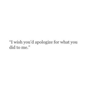 trust, guilty and apologise
