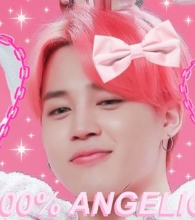twitter header, bts jimin and pink