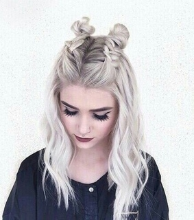 messy braids, half hairstyle and black