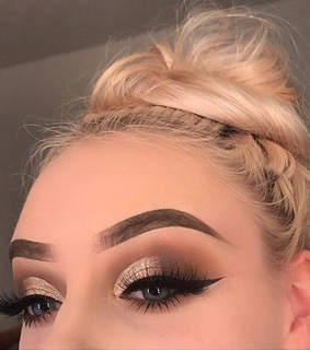 beauty, blonde and brows