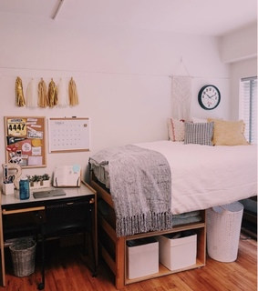 bedroom, dorm and simple