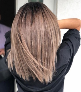 ombre, short and babyliss