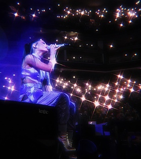 purple ariana, singing and ariana