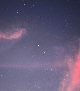 clouds, moon and nature