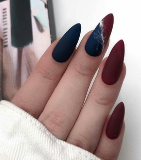 blue, nails and red and blue