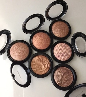 mac, blush and shine