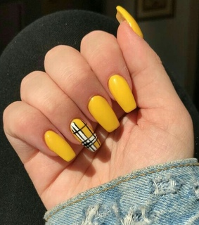yellow, nails and nails polish