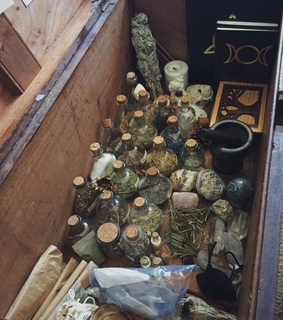 witchcraft, herbs and jars